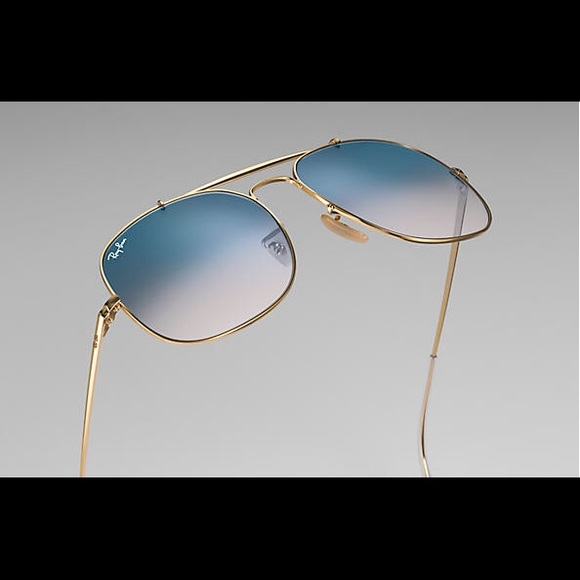 f90bf570583 Ray Ban RB3561 The General gold blue gradient lens
